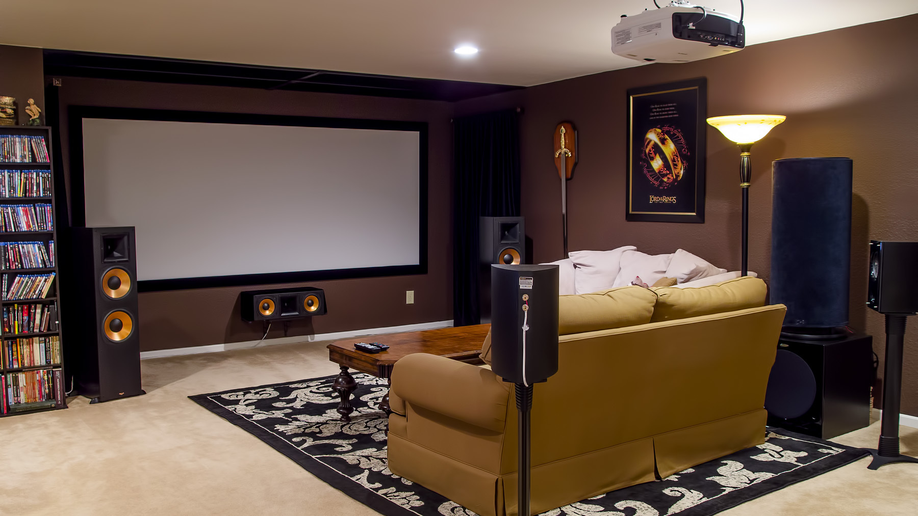 Edgar In Indy S Home Theater Gallery Home Theater As Of