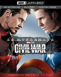 Captain America: Civil War 4K (Blu-ray) Temporary cover art