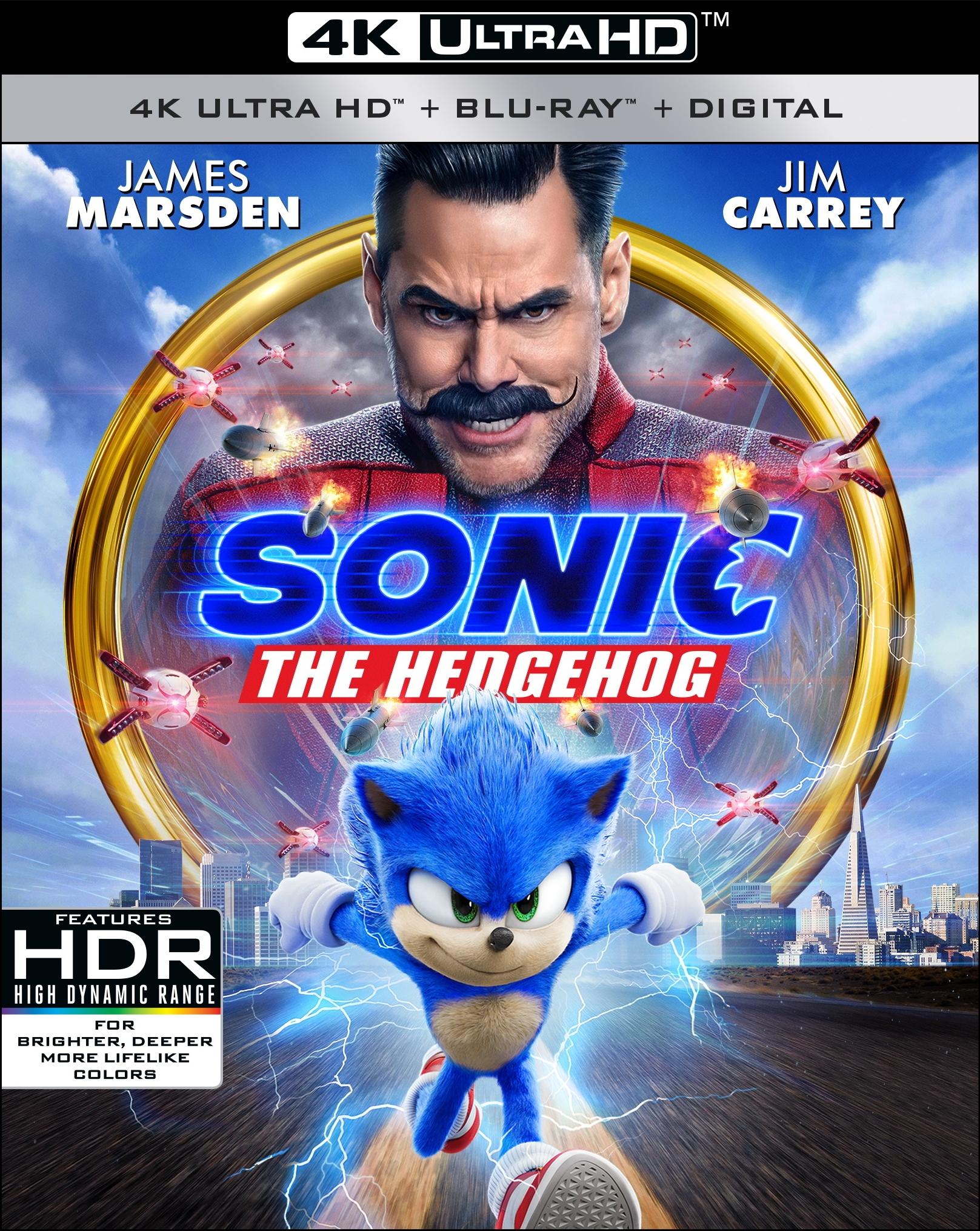 Sonic The Hedgehog Speeding To Digital Hd Early Full 4k Ultra Hd Blu Ray Dvd Details Revealed