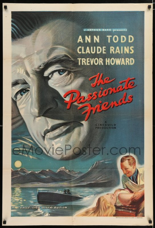 The passionate friends Trevor Howard movie poster