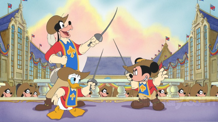 Image result for mickey mouse and the three musketeers